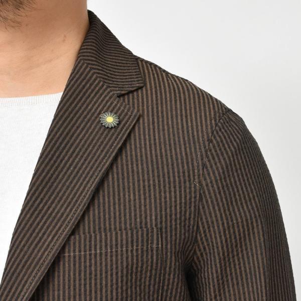 【SALE30】Giannetto(ジャンネット)コットンシアサッカーストライプ2Bシャツジャケット AG297JK 17091002109 guji 06