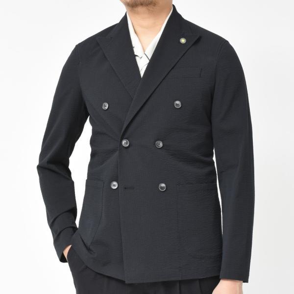 【SALE30】Giannetto(ジャンネット)コットンシアサッカーソリッド6Bダブルシャツジャケット AG300JKW 17091003109|guji|03