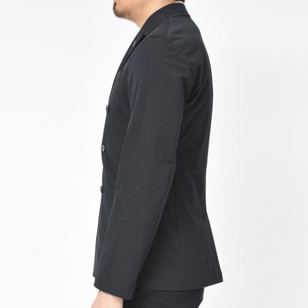 【SALE30】Giannetto(ジャンネット)コットンシアサッカーソリッド6Bダブルシャツジャケット AG300JKW 17091003109|guji|05