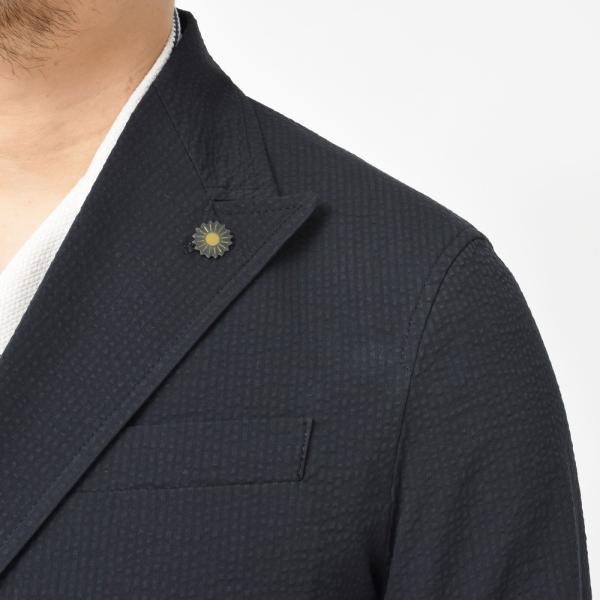 【SALE30】Giannetto(ジャンネット)コットンシアサッカーソリッド6Bダブルシャツジャケット AG300JKW 17091003109|guji|06