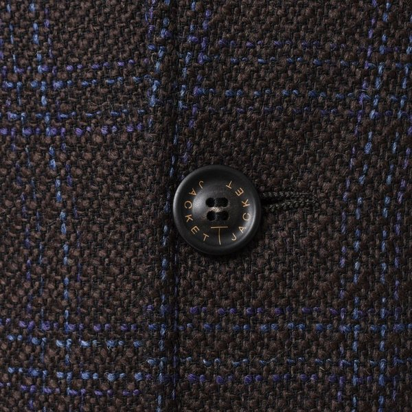 T-JACKET(ティージャケット)ウールコットンジャージオーバーチェック2Bジャケット 10210003 17092000065|guji|07