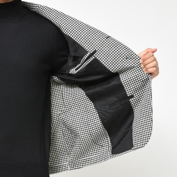De Petrillo(デ ペトリロ)ウールカシミアライトツィードハウンドトゥース3Bジャケット NAPOLI/POSILLIPO TW20141F 17096004082|guji|08