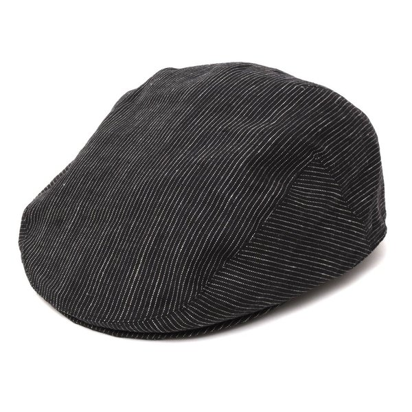 ANTHONY PETO(アンソニーぺト)リネンピンストライプハンチング FITTED CAP 18591401025|guji
