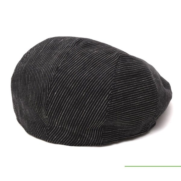 ANTHONY PETO(アンソニーぺト)リネンピンストライプハンチング FITTED CAP 18591401025|guji|02