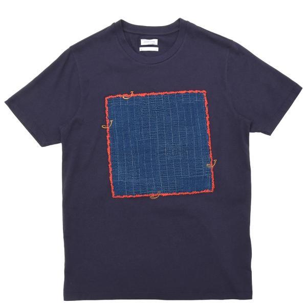 JACOB COHEN(ヤコブ コーエン)J4063 ウォッシュドコットンデニムパッチS/S Tシャツ 76145/1107-L 52195005052 guji