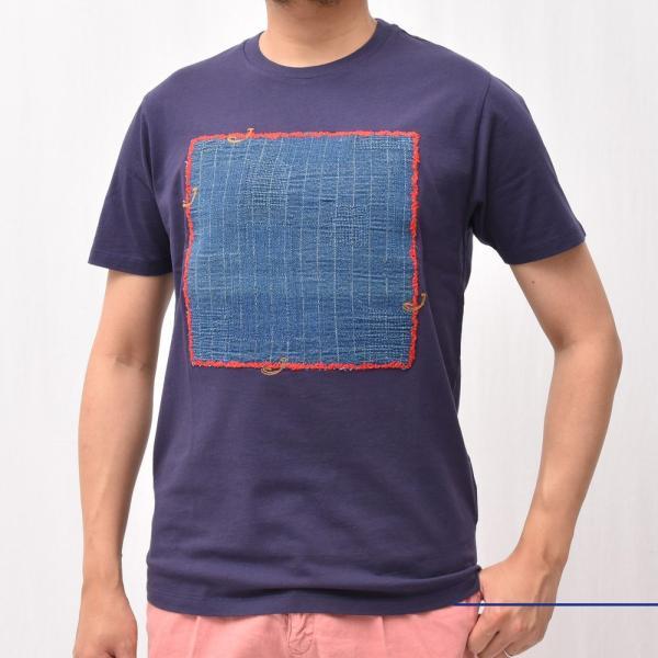JACOB COHEN(ヤコブ コーエン)J4063 ウォッシュドコットンデニムパッチS/S Tシャツ 76145/1107-L 52195005052 guji 02