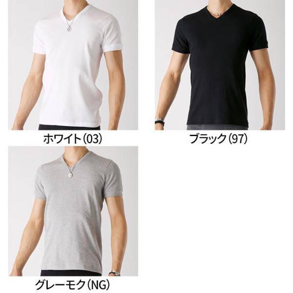 グンゼ Tシャツ V首 ボディワイルド 綿100 GUNZE BODY WILD/【直営店限定】VネックTシャツ(紳士)/BWB315U|gunze|02