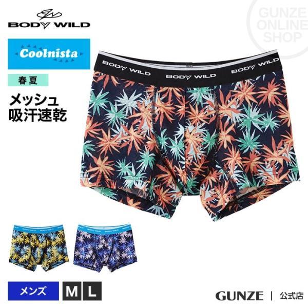 GUNZE(グンゼ)/BODY WILD(ボディワイルド)/Coolnista(クールニスタ)メッシュ ストレッチ素材 ボクサーパンツ(前とじ)(メンズ)/春夏/BWC081J/M〜L gunze