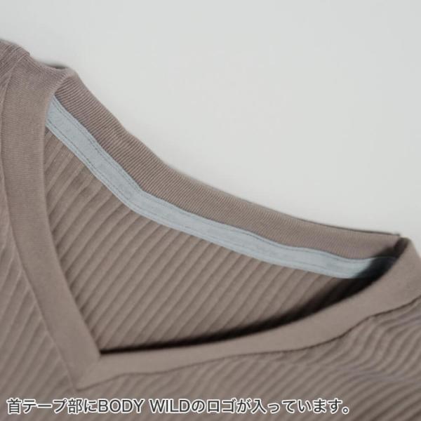 GUNZE(グンゼ)/BODY WILD(ボディワイルド)/【プレミアムライン】VネックTシャツ(V首)(紳士)/BWN015P|gunze|04