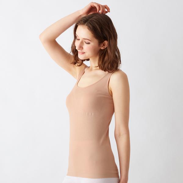 グンゼ/the GUNZE(ザグンゼ) 綿100%シームレス うるおい保湿/直営店限定 SEAMLESS タンクトップ(パッド付)(レディース)/CK2458/M〜LL|gunze|14