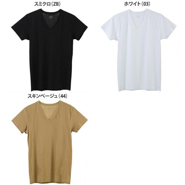 綿100 GUNZE(グンゼ)/the GUNZE(ザグンゼ)/【STANDARD】VネックTシャツ(V首)(紳士)/年間シャツ/CK9015N gunze 02