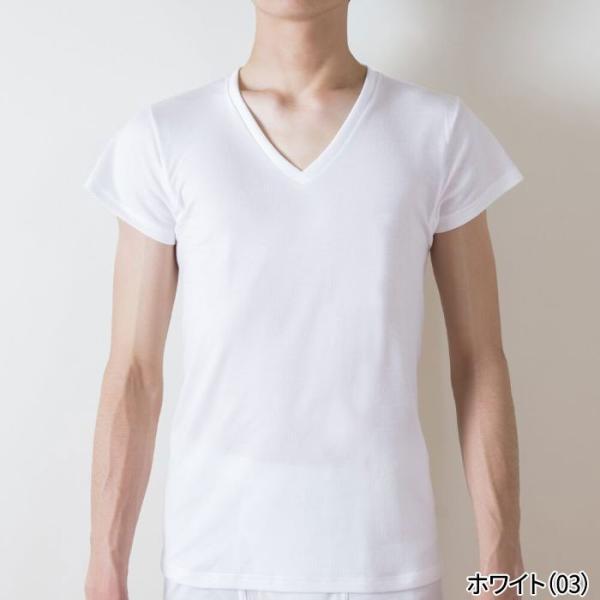 綿100 GUNZE(グンゼ)/the GUNZE(ザグンゼ)/【SEASON】VネックTシャツ(短袖)(汗とり付)(V首)(紳士)/春夏シャツ/CK9312N|gunze|02