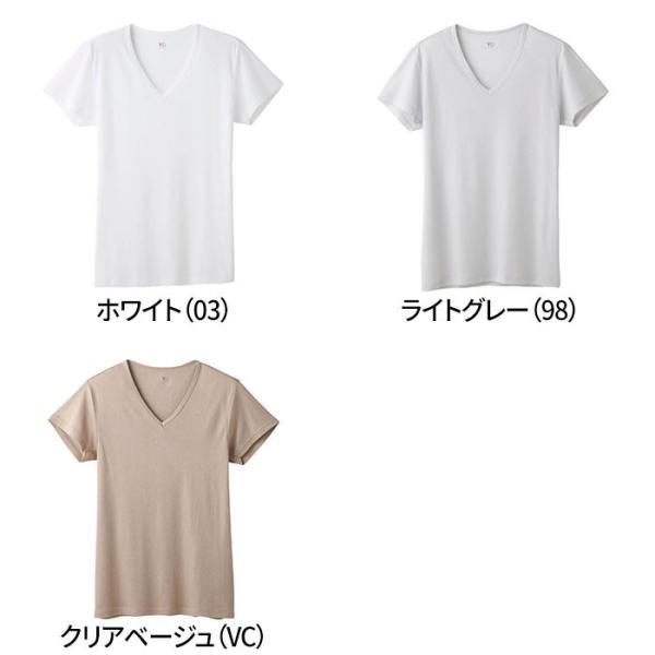 グンゼ YG Tシャツ V首 吸汗速乾 ドライ DRY&DEO GUNZE/VネックTシャツ(紳士)/年間シャツ/YV0115N gunze 02