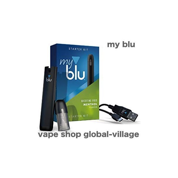 my blu マイブルー Vape リキッド式 本体キット 電子タバコ  ニコチンレス フレーバーポッド付き  限定発売|gurobaru