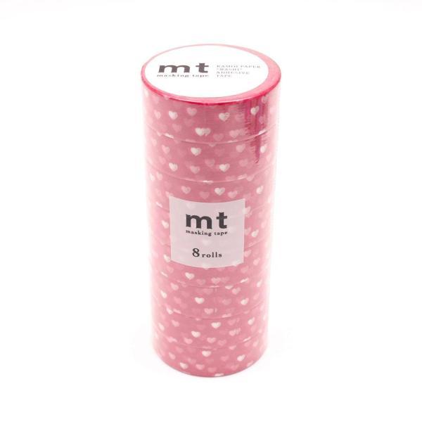【ネコポス不可】mt マスキングテープ 8P ハート・スポット MT08D331【A】【キャンセル・返品不可】