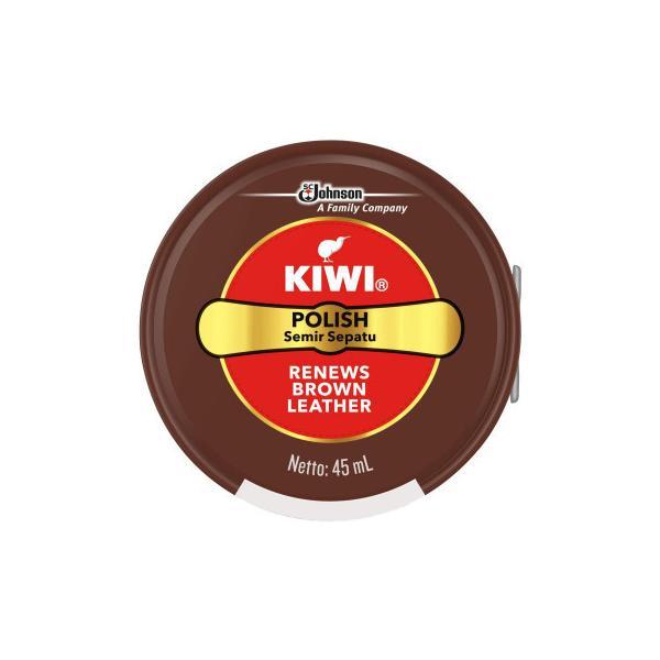 【ネコポス不可】KIWI(キィウィ) 油性靴クリーム 中缶 茶45ml【A】【キャンセル・返品不可】