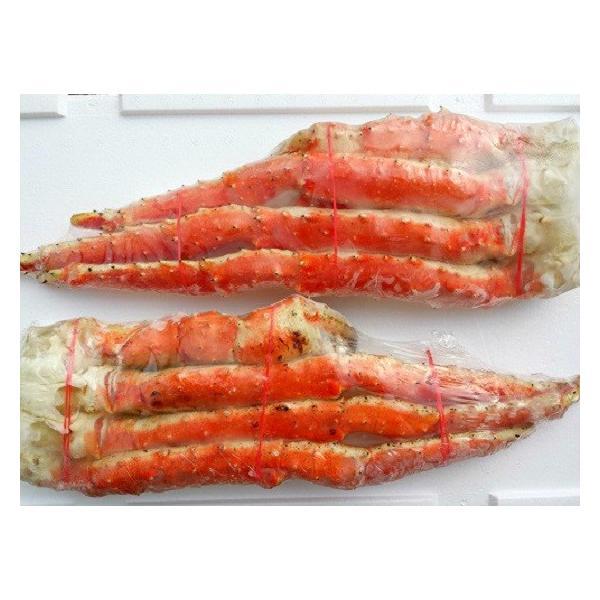 タラバガニ (たらば 蟹 かに カニ) 脚 足 ボイル 特大 2肩 計2kg前後 冷凍 北海道加工 5L 送料無料|gurumeitiba|05