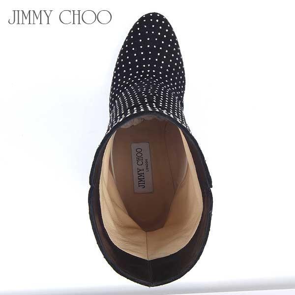 【送料無料】 ジミーチュウ(Jimmy Choo) レディース スウェード スタッズ ブーツ TARI DMS BK/SL  13A