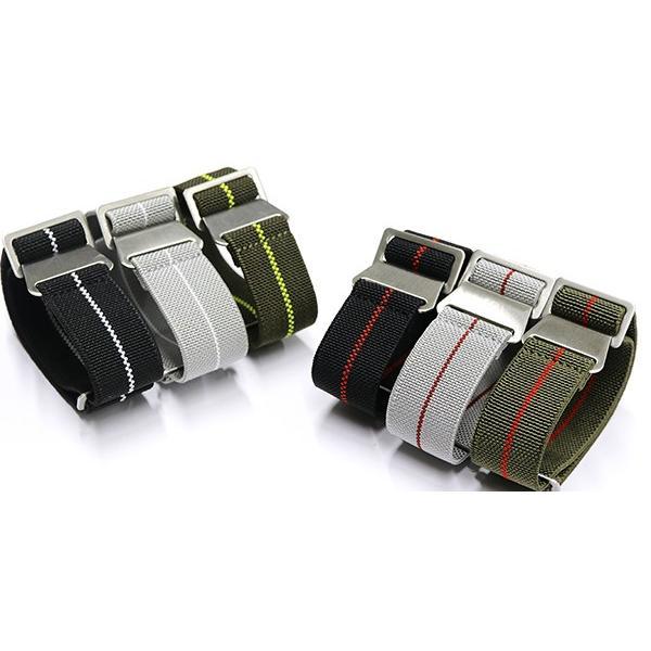 腕時計 ベルト 20mm 22mm パラシュート ナイロン ストラップ 6カラー pn1