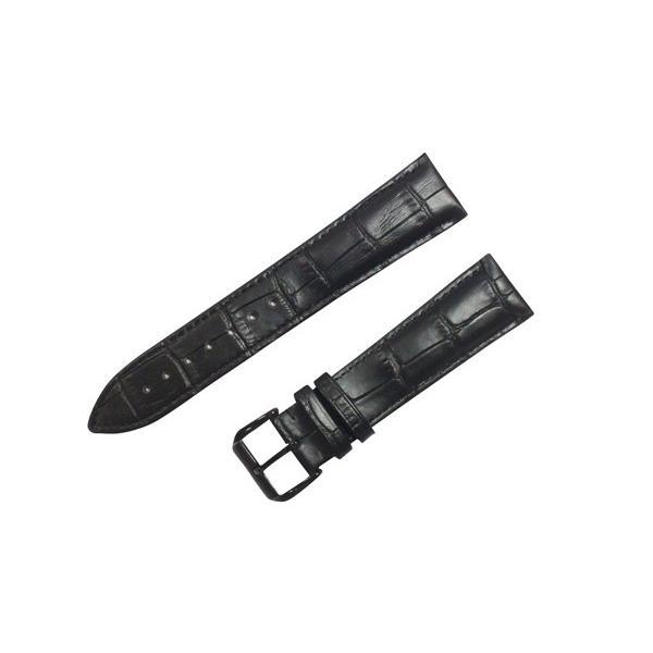 腕時計 ベルト 21mm レザー 黒 バックルタイプ ピンインバックル 黒 交換 工具 付属