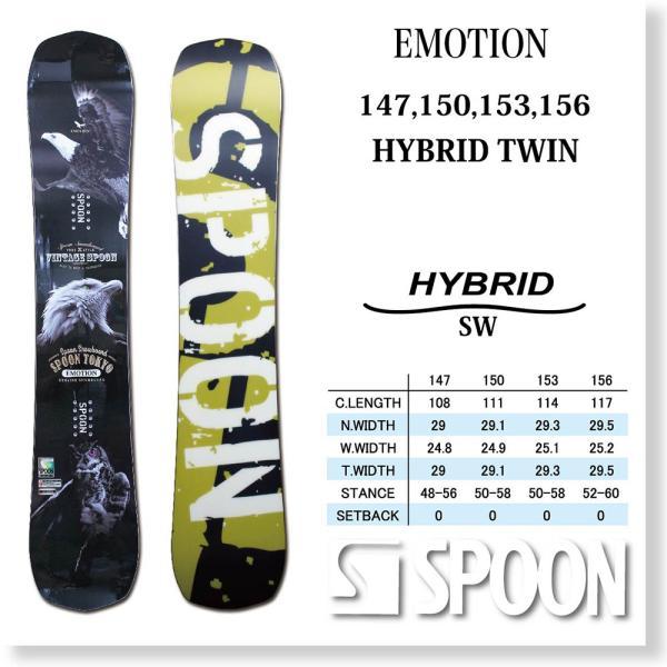 スノーボード ボード 板 SPOON EMOTION 2020モデル メンズ ハイブリッド