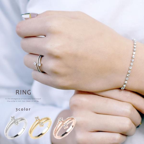 指輪 リング レディース シルバーリング エレガント 上品 シンプル ジルコニア シルバー ゴールド ピンクゴールド ストーン