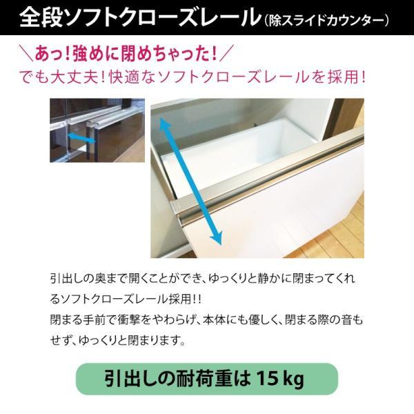 キッチンカウンター レンジ台 カウンターボード 背の低い食器棚 ロータイプ 120 完成品 日本製 大川家具 おしゃれ 大容量 キッチン収納 開梱設置送料無料|habitz-mall|09