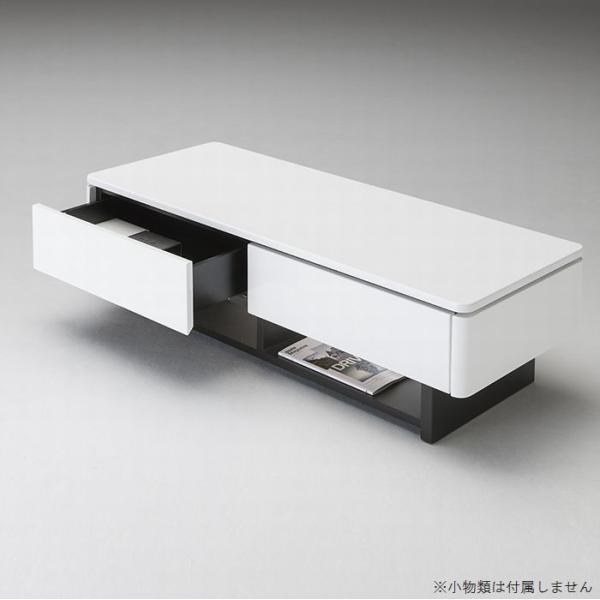 リビングテーブル ローテーブル センターテーブル 長方形 120 引き出し付き おしゃれ ホワイト 幅120 白 シンプル 完成品 送料無料|habitz-mall|04