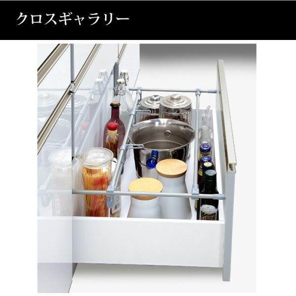 隠れる 隠せる キッチンボード 162 日本製 大川家具 完成品 収納自慢の食器棚 キッチン収納 おしゃれ 木製 引き戸 引き出し 大容量 開封設置付き 送料無料|habitz-mall|16