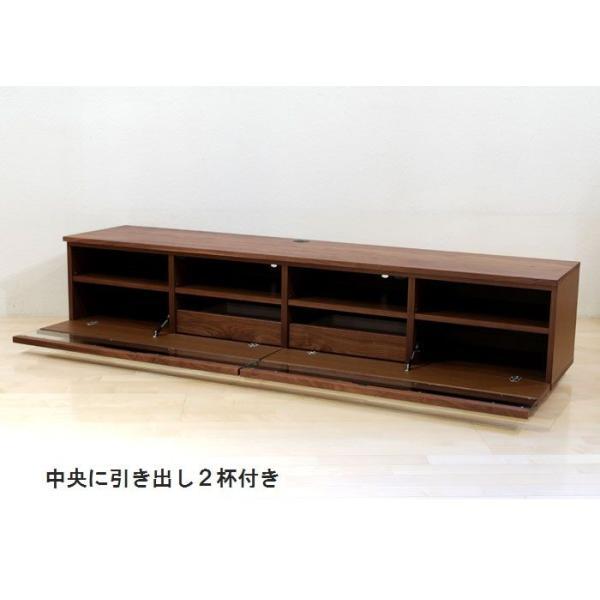 テレビボード テレビ台 ローボード 日本製 180 200 220 240 4サイズより選択 おしゃれ 引き出し付き 無垢 木製 3素材より選択 開梱設置無料 送料無料|habitz-mall|02