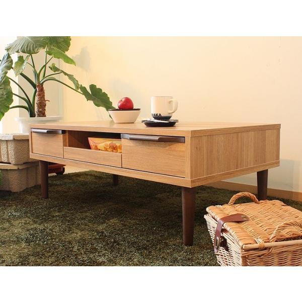 テーブル 104 長方形 おしゃれ 木製 収納 リビングテーブル ローテーブル センターテーブル ソファテーブル|habitz-mall|05