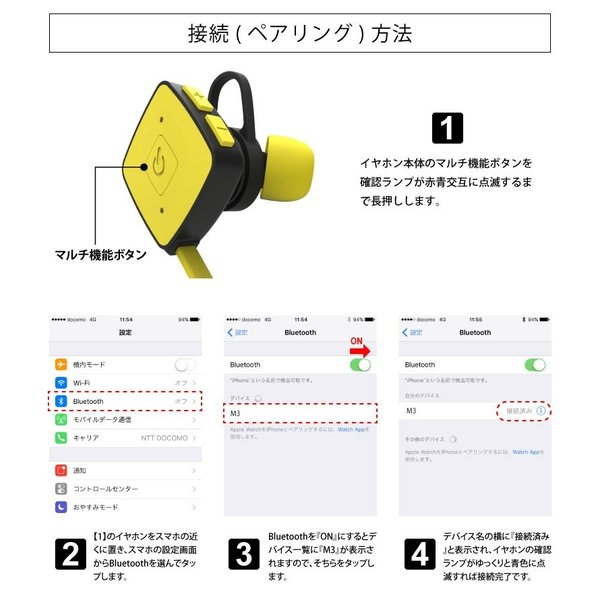 ワイヤレスイヤホン Bluetooth イヤホン ブルートゥース イヤフォン iPhone  おしゃれ 生活防水 防汗 スポーツ アイフォン アンドロイド hac2ichiba 14