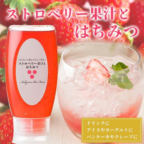 はちみつ 蜂蜜 ハチミツ ストロベリー果汁とはちみつ500gポリ容器入り
