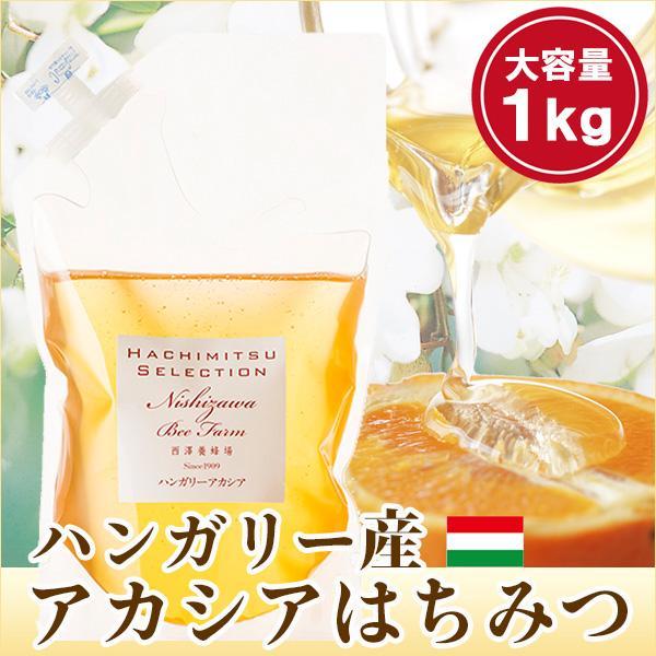 はちみつ 蜂蜜 ハチミツ ハンガリー産アカシアはちみつ1kg袋入り アカシア蜂蜜