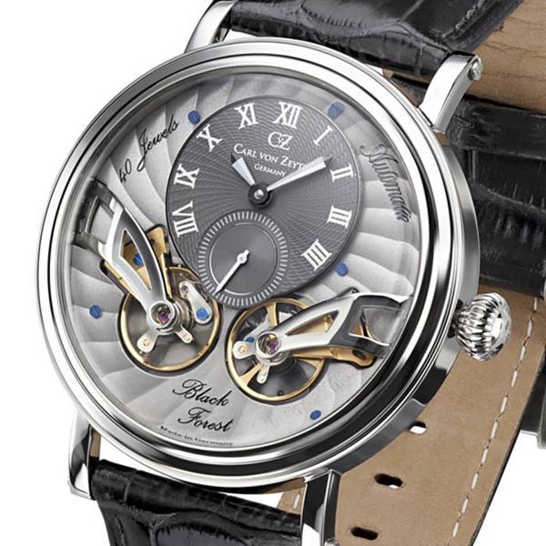 Carl von Zeyten カール・フォン・ツォイテン 自動巻き(手巻き機能あり) 腕時計 [CvZ0017SGY] 正規品 スケルトン ダブルテンプ|hachigoten