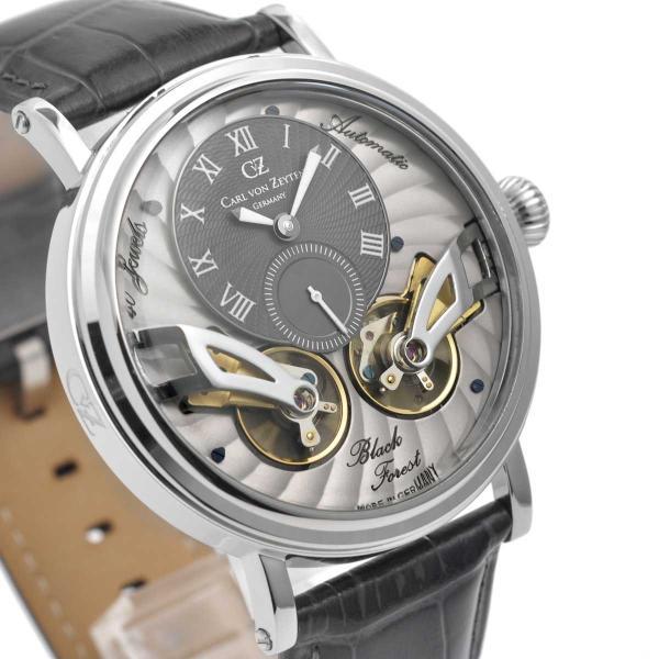 Carl von Zeyten カール・フォン・ツォイテン 自動巻き(手巻き機能あり) 腕時計 [CvZ0017SGY] 正規品 スケルトン ダブルテンプ|hachigoten|03
