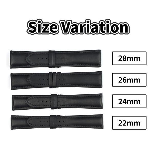 Morellato モレラート WIDE ワイド [U4026A37] 腕時計用 レザーベルト サイズ:E22-B18/E24-B20/E26-B22/E28-B24