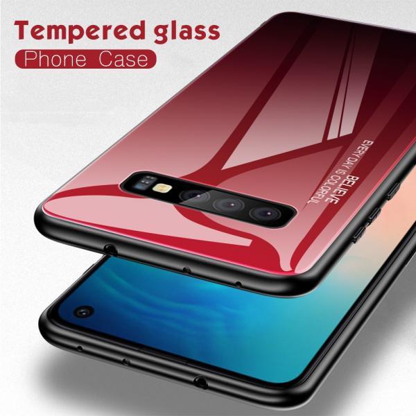 Galaxy S10 / S10+ / S10e ケース 耐衝撃 カバー おしゃれ グラデーション ガラス素材 / TPU素材 軽量 薄型 ハードケース ギャラクシー S10 Plus スマホケース|hachiko|03