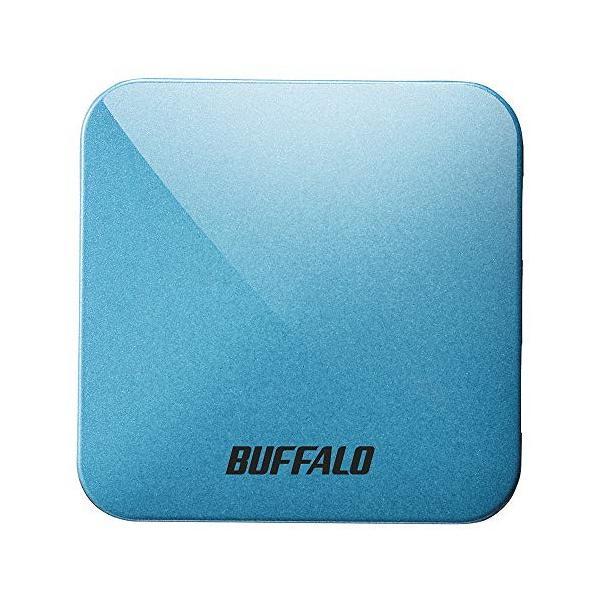BUFFALO無線LAN親機11ac/n/a/g/b433/150MbpsトラベルルーターターコイズブルーWMR-433W2-T
