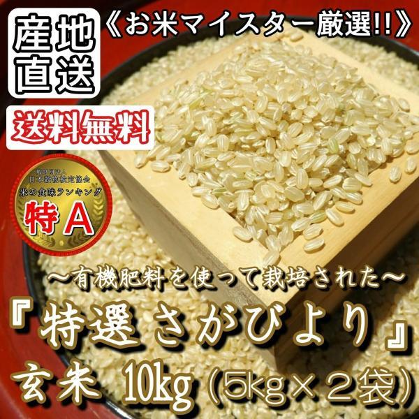さがびより玄米5kg×2袋10kg特A産地直送お米マイスター厳選佐賀県産米お米特選玄米有機肥料(一部地域を除く)