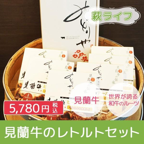 見蘭牛のレトルトセット(見蘭牛ビーフカレー3P+見蘭牛入りテールスープ3P)|hagi-life