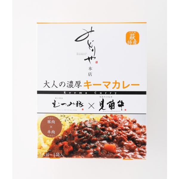 レトルト 大人の濃厚キーマカレー 2P(萩産「見蘭牛」「むつみ豚」使用)|hagi-life|02