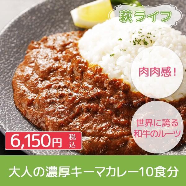 レトルト 大人の濃厚キーマカレー10P(萩産「見蘭牛」「むつみ豚」使用)|hagi-life