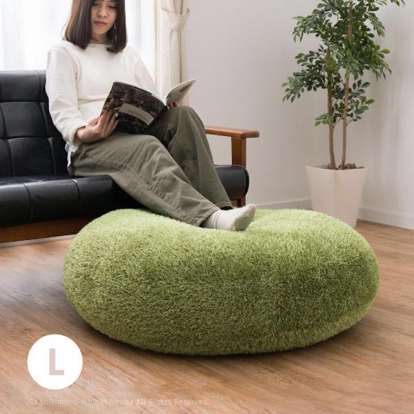 クッション 芝生クッション フロアクッション ラウンドクッション 座布団 円形 丸 90cmR L 芝生 おしゃれ 大きい 緑 グリーン シーヴァ