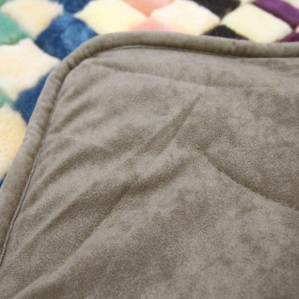 色はおまかせ かわいい アソート ムートンラグ モザイクひし形 1200 約190×190cm|hagihara6011|03