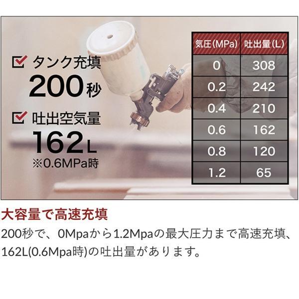 ストレスフリー エアコンプレッサー 小型 業務用 エアブラシ HG-DC991ver01 送料無料 36Lタンク オイルレス ブラシレス 100V 静音|haige|02