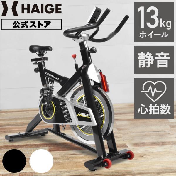 スピンバイク HG-YX-5001VER2 ブラック フィットネス バイク エアロビクス ハイガー/HAIGE|haige