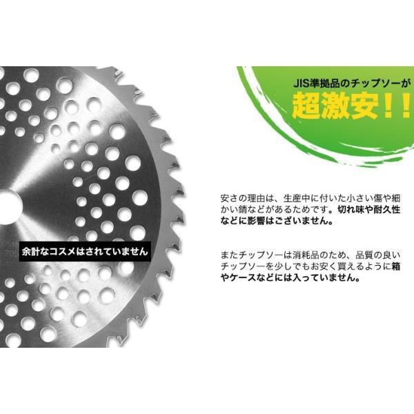 訳ありアウトレット商品高品質日本メーカー ワイドでスタンダードな255mm 40枚刃 草刈り機用 チップソー JIS 準拠品 替刃 替え刃 刈払機 草刈機 OUT255P40|haige|04