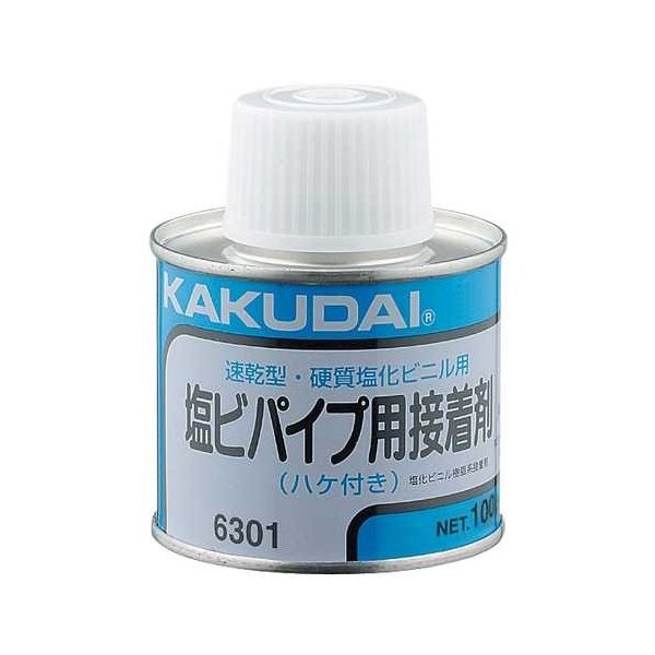 RoomClip商品情報 - カクダイ:塩ビパイプ用接着剤(100g入・ハケつき) 型式:6301