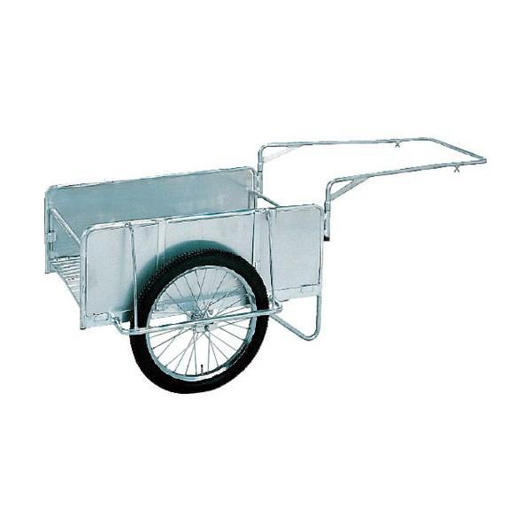 昭和 アルミ折畳みリヤカー 積載面(長さ×幅)1200×800 ノーパンクタイヤ (NS8-A2S) 昭和ブリッジ販売(株)